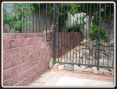Textured Block Wall and Gate