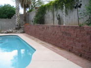 Texture Block Wall Poolside